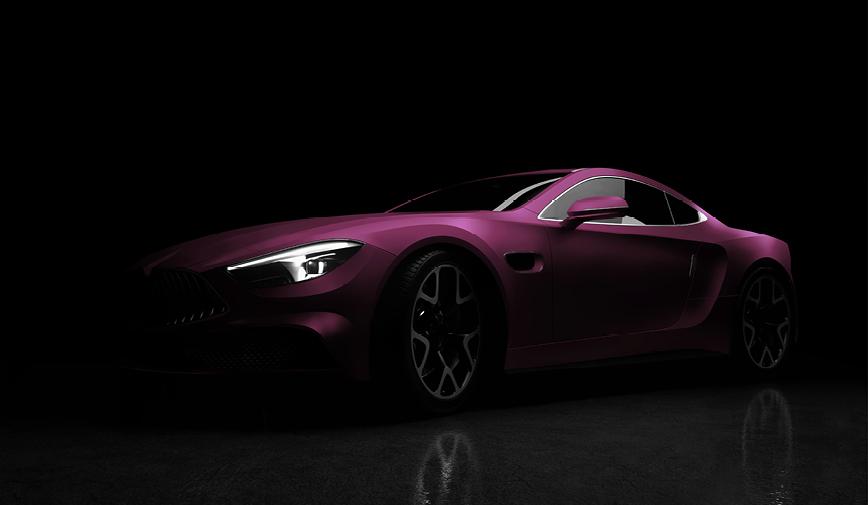 PCC Matte Aluminium Black Rose 554 - Sports Car Web