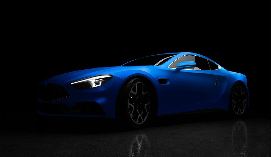 PCC Matte Aluminium Blue 555 - Sports Car Web