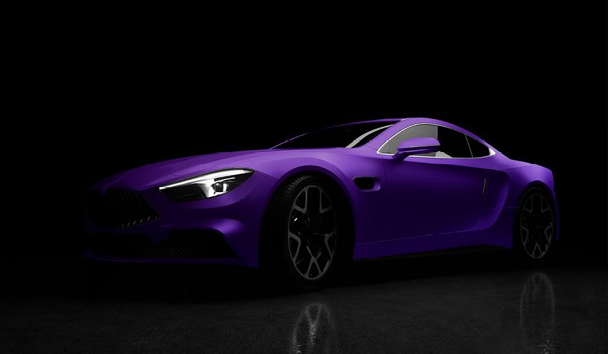 PCC Matte Aluminium Purple 557 - Sports Car Web