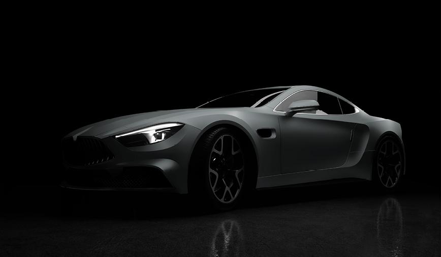 PCC Matte Grey 505 - Sports Car Web